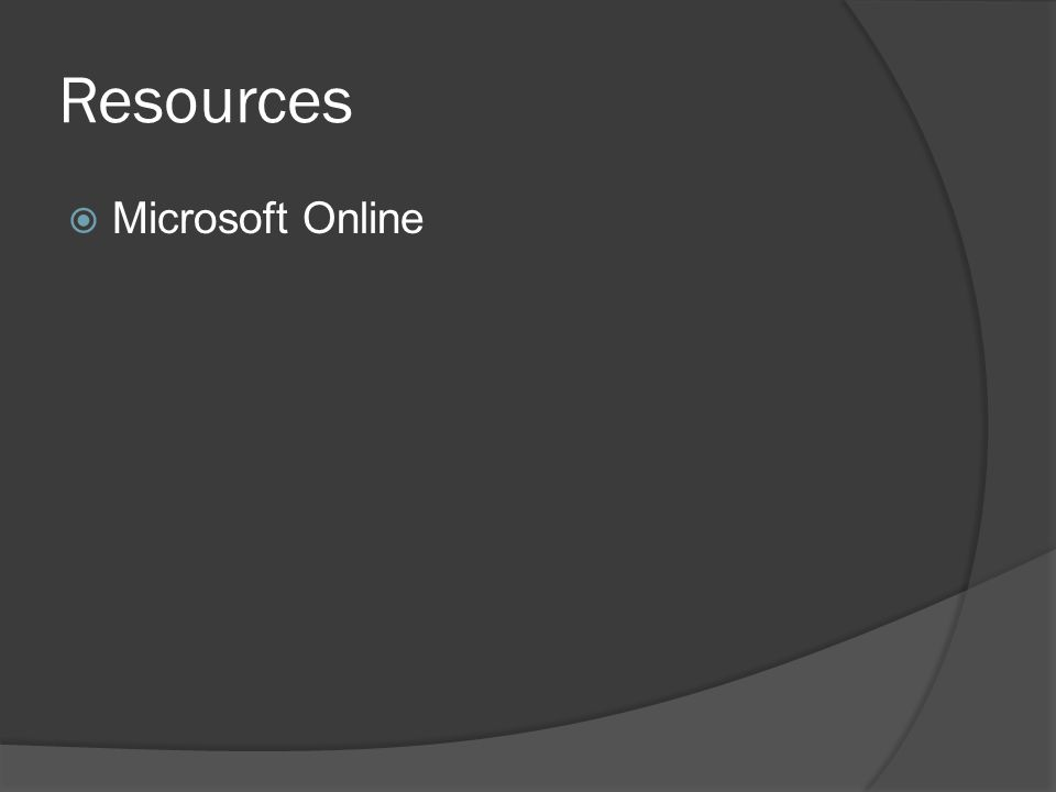 Resources  Microsoft Online