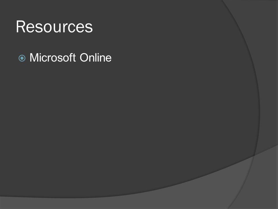 Resources  Microsoft Online