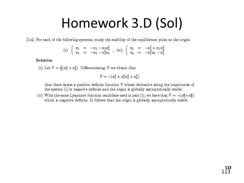 113 Homework 3.D (Sol)