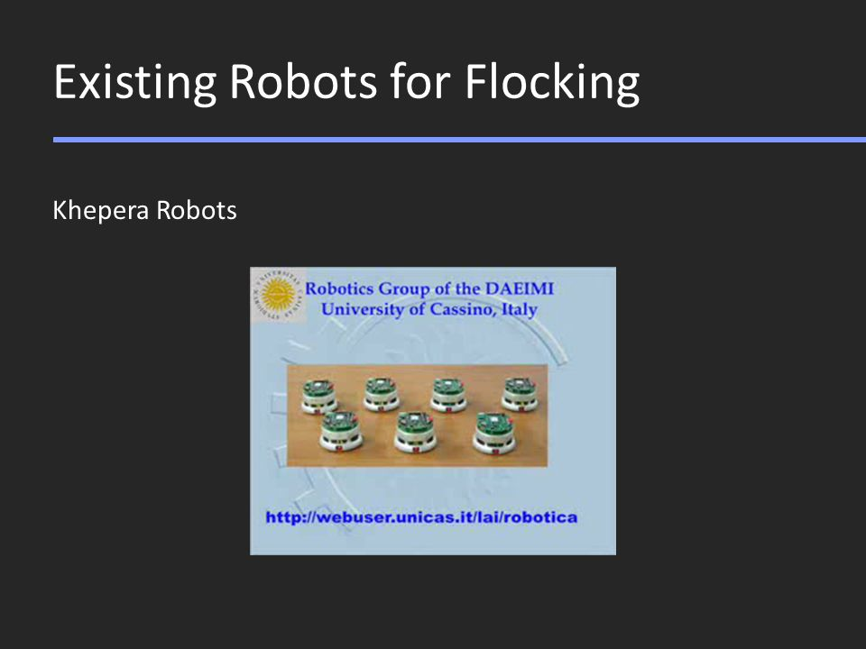 Existing Robots for Flocking Khepera Robots