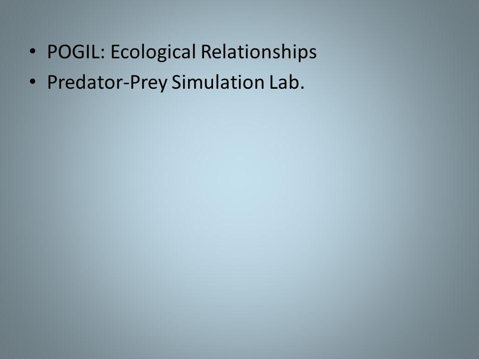 POGIL: Ecological Relationships Predator-Prey Simulation Lab.