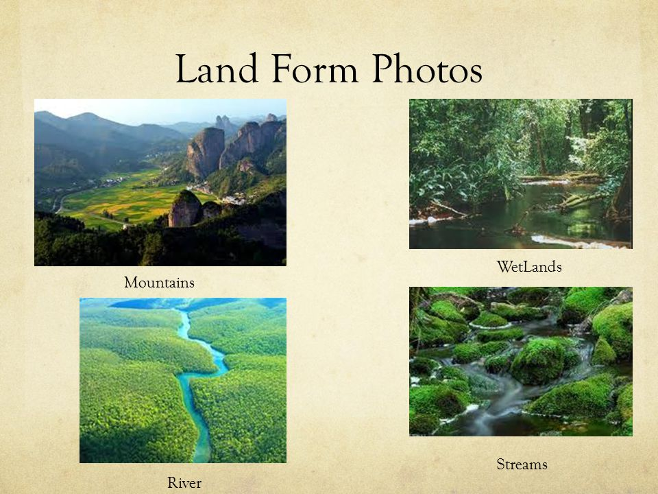 Land Form Photos River Streams WetLands Mountains