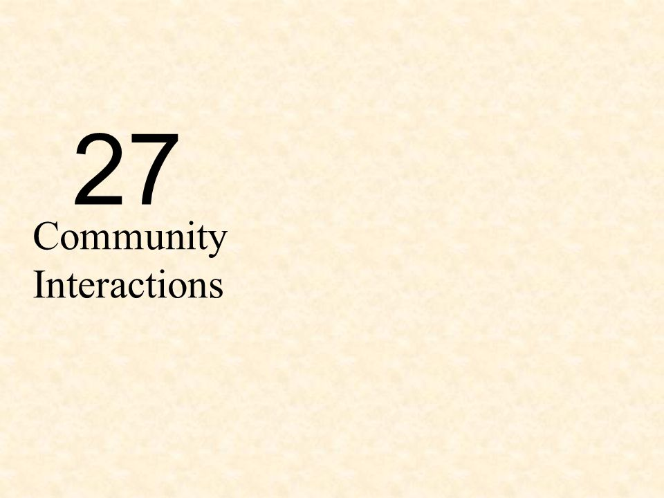 27 Community Interactions