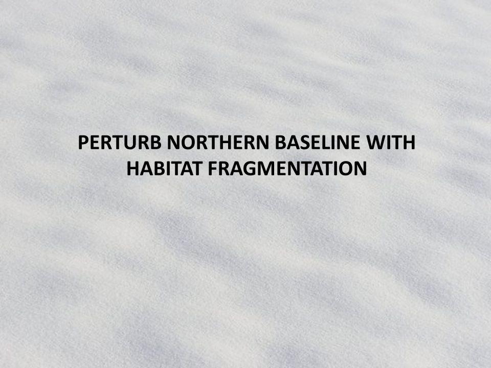 PERTURB NORTHERN BASELINE WITH HABITAT FRAGMENTATION