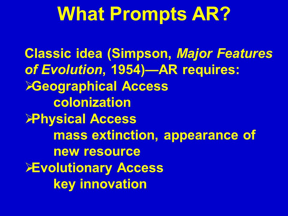 What Prompts AR.
