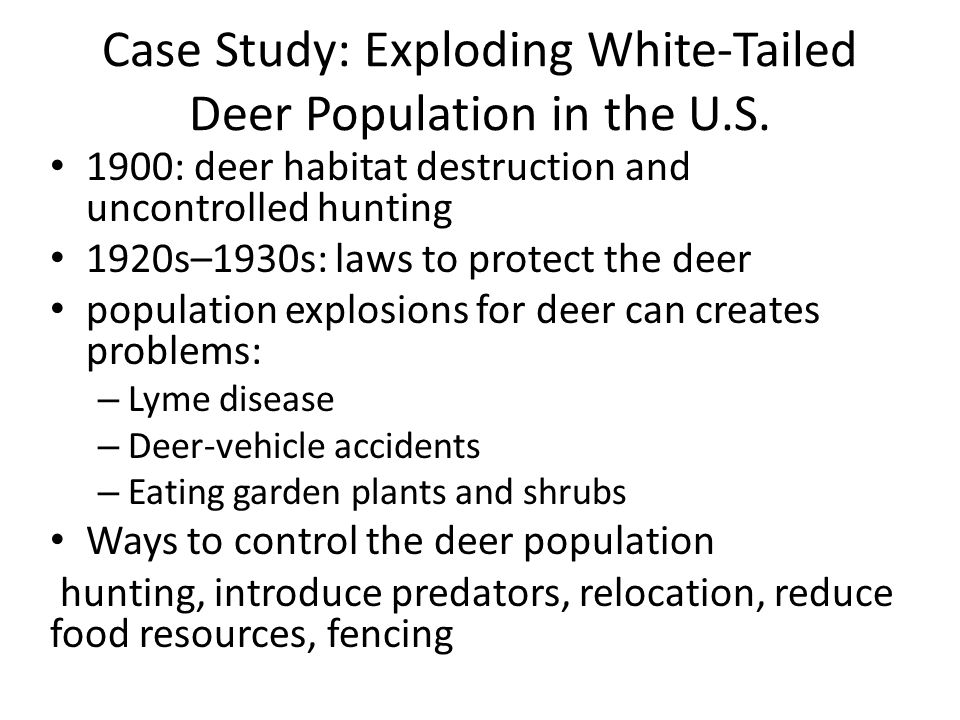 Case Study: Exploding White-Tailed Deer Population in the U.S.