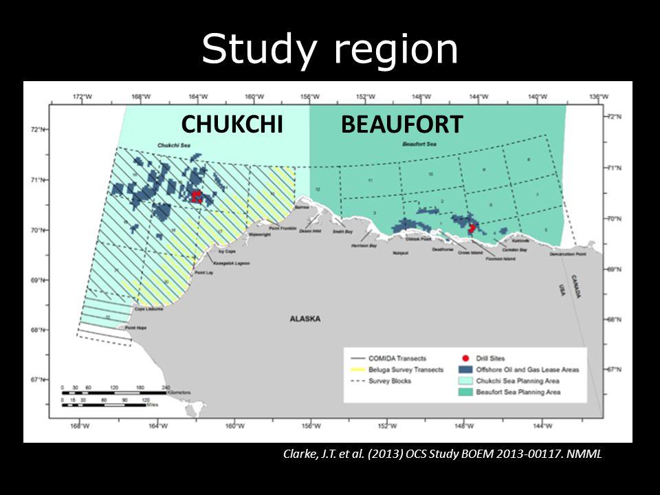 Study region Clarke, J.T. et al. (2013) OCS Study BOEM 2013-00117. NMML CHUKCHI BEAUFORT