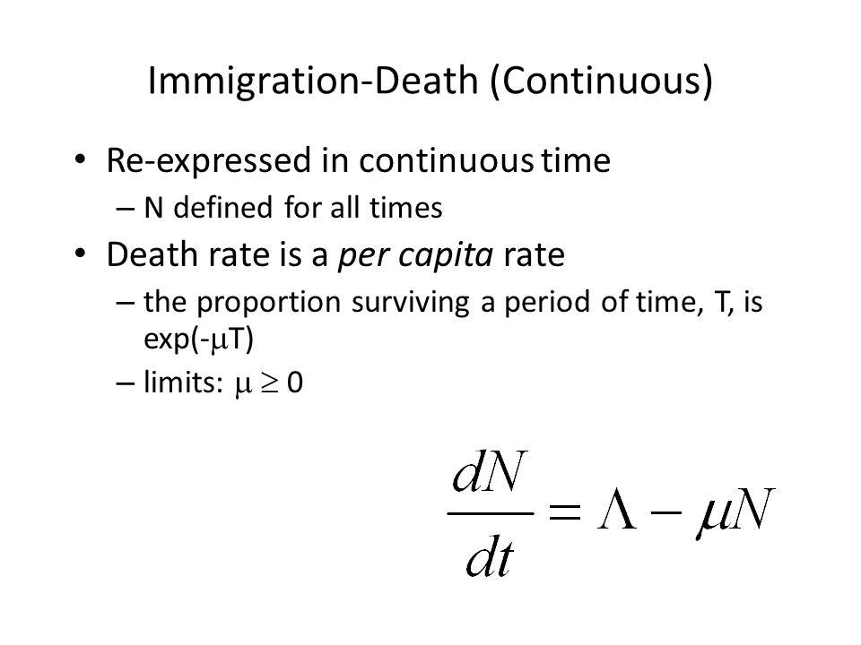 Immigration-Death Solution