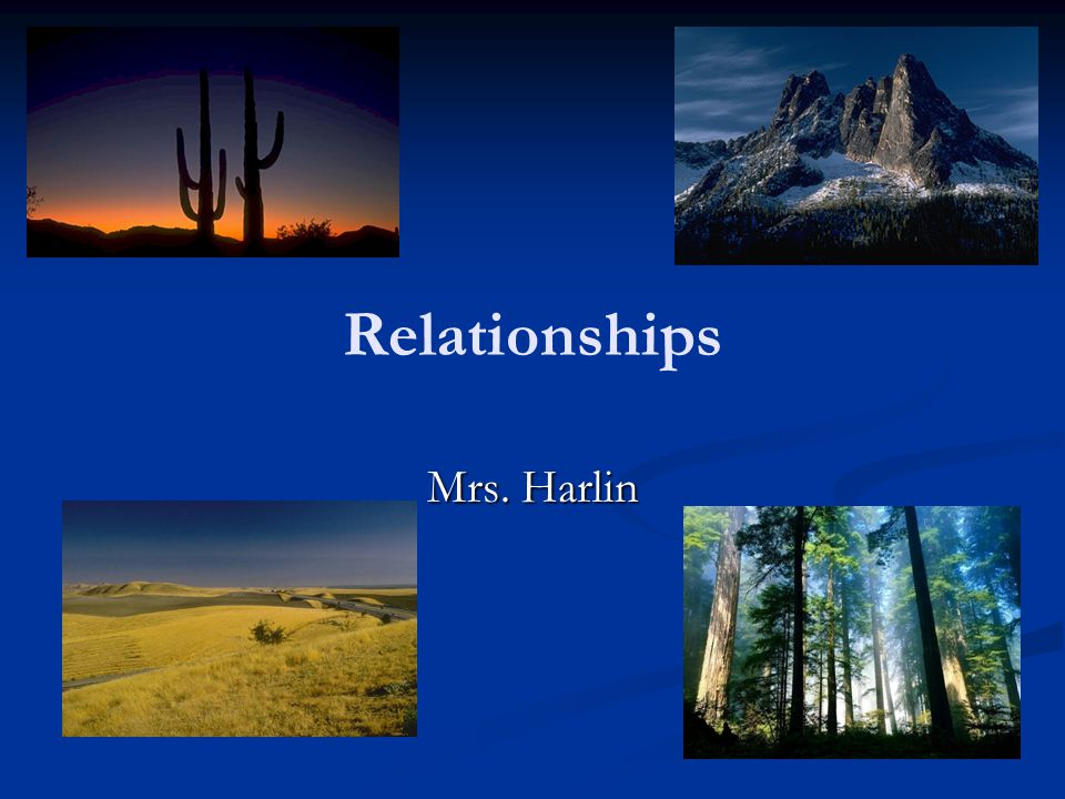 Relationships Mrs. Harlin