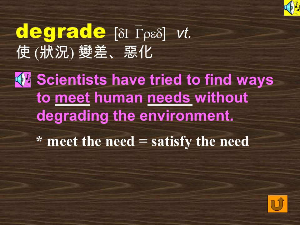 Words for Production 29. degraded [ dI`GredId ] adj.