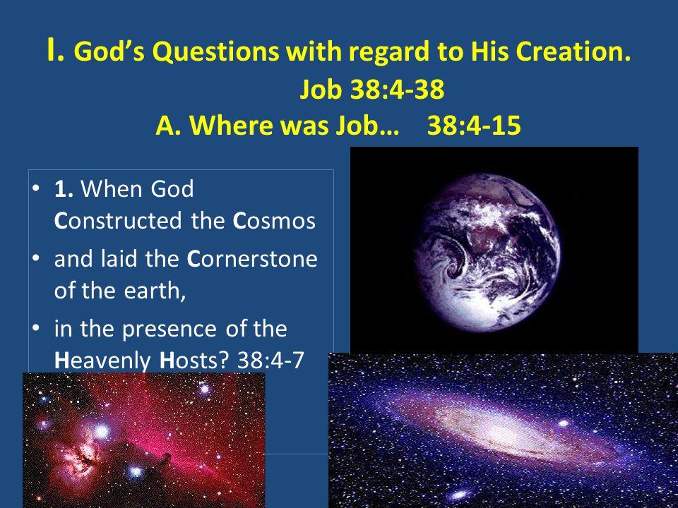 A.Where was Job…38:4-15 2.