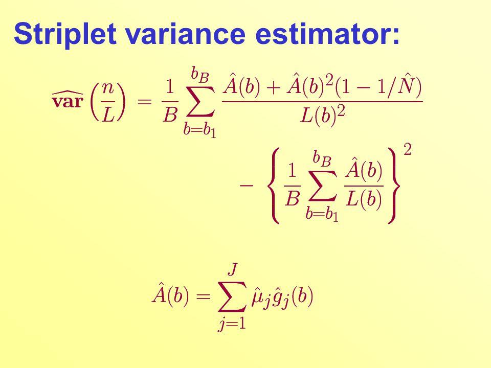 Striplet variance estimator: