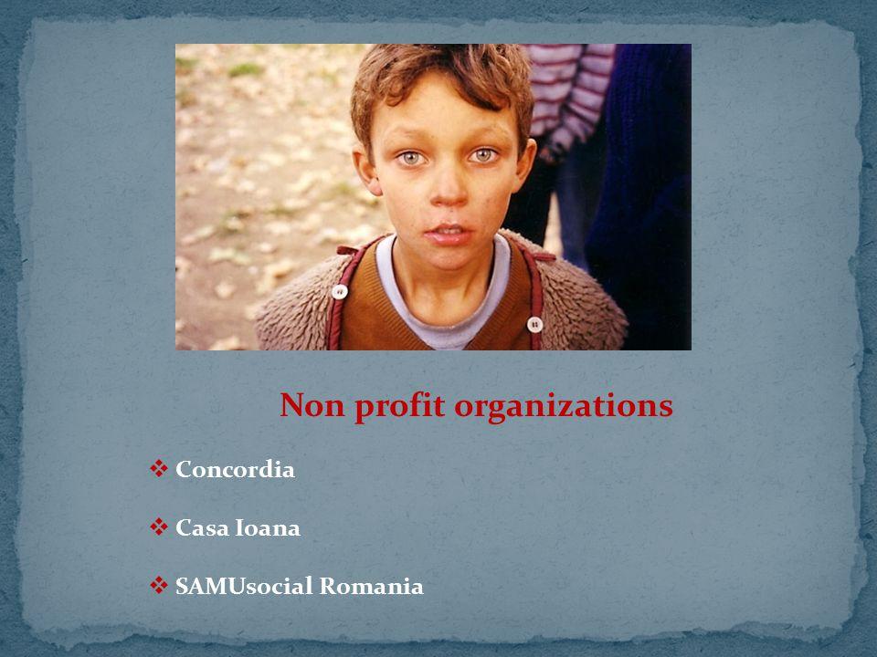 Non profit organizations  Concordia  Casa Ioana  SAMUsocial Romania