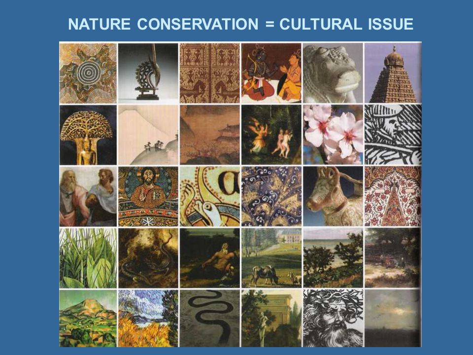 NATURE CONSERVATION = CULTURAL ISSUE