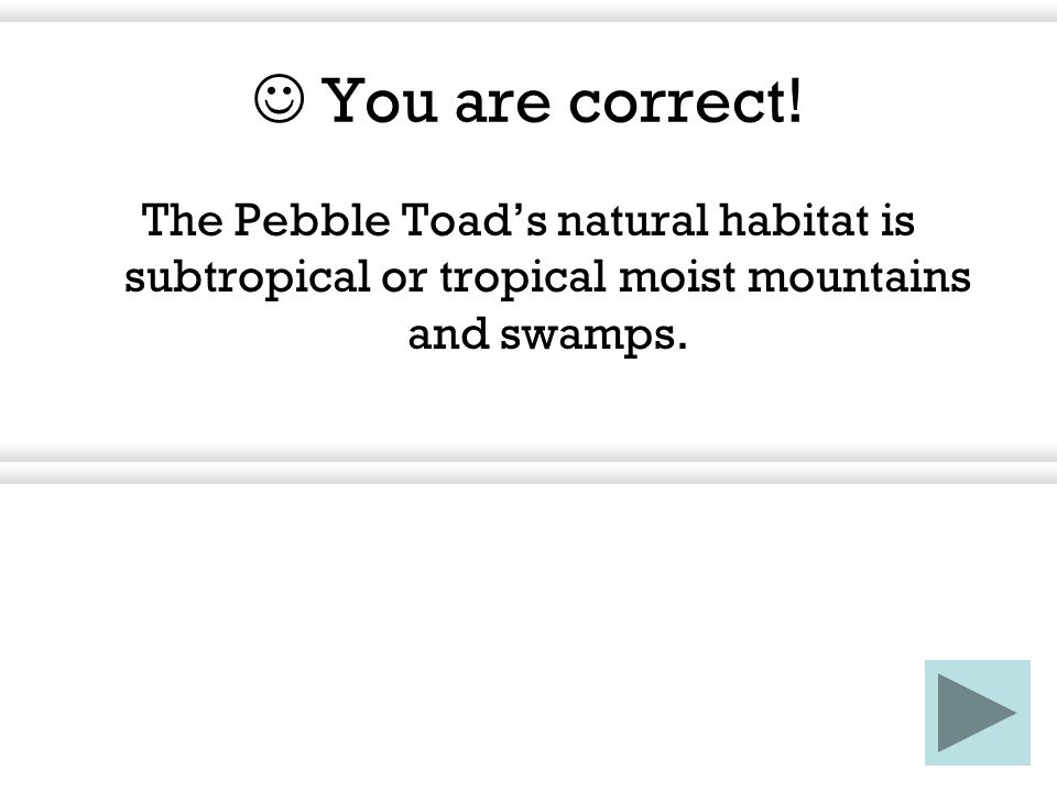 What does the pebble toad do when it knows snakes are around.