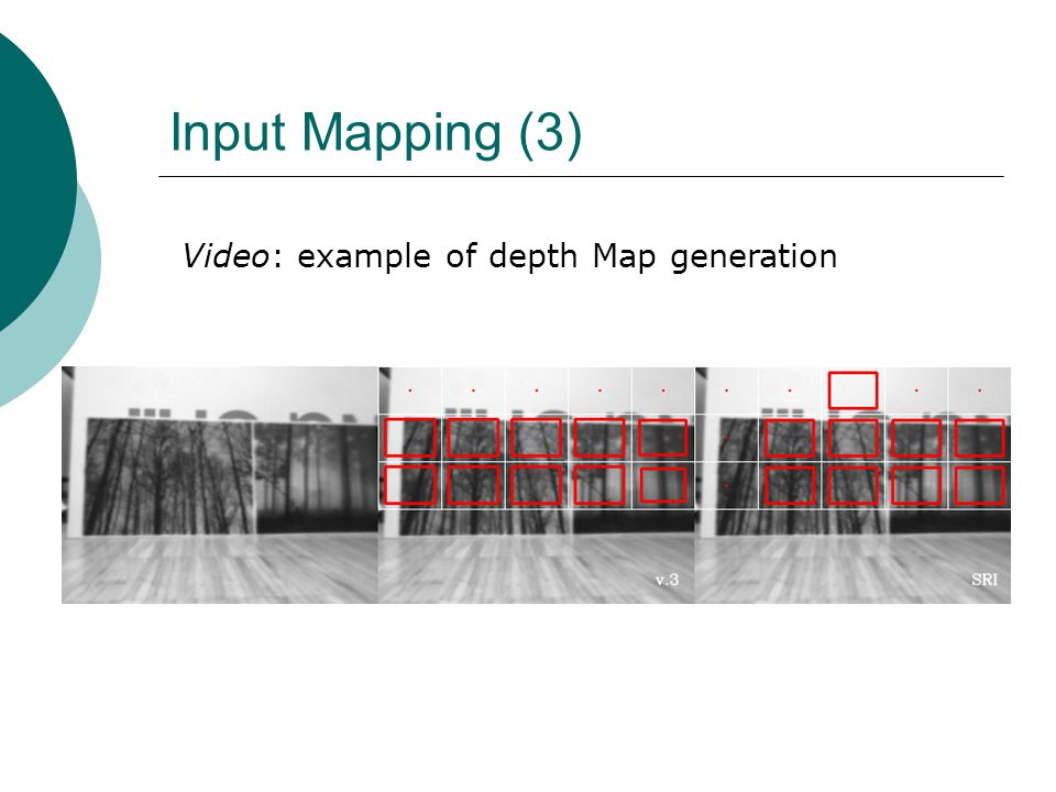 Input Mapping (3) Video: example of depth Map generation