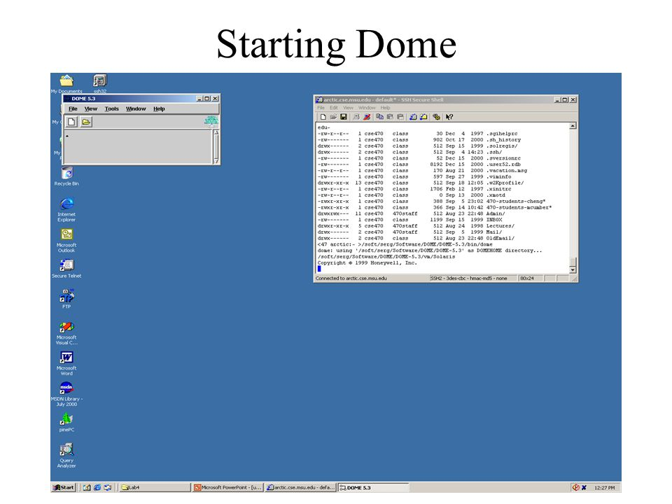Starting Dome