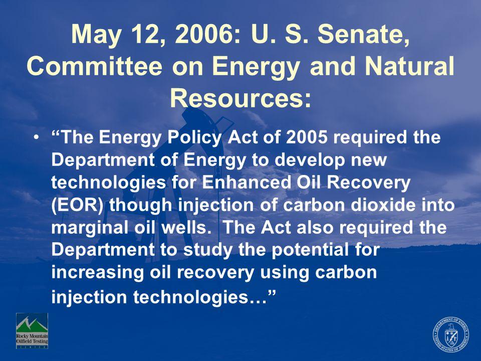 May 12, 2006: U. S.