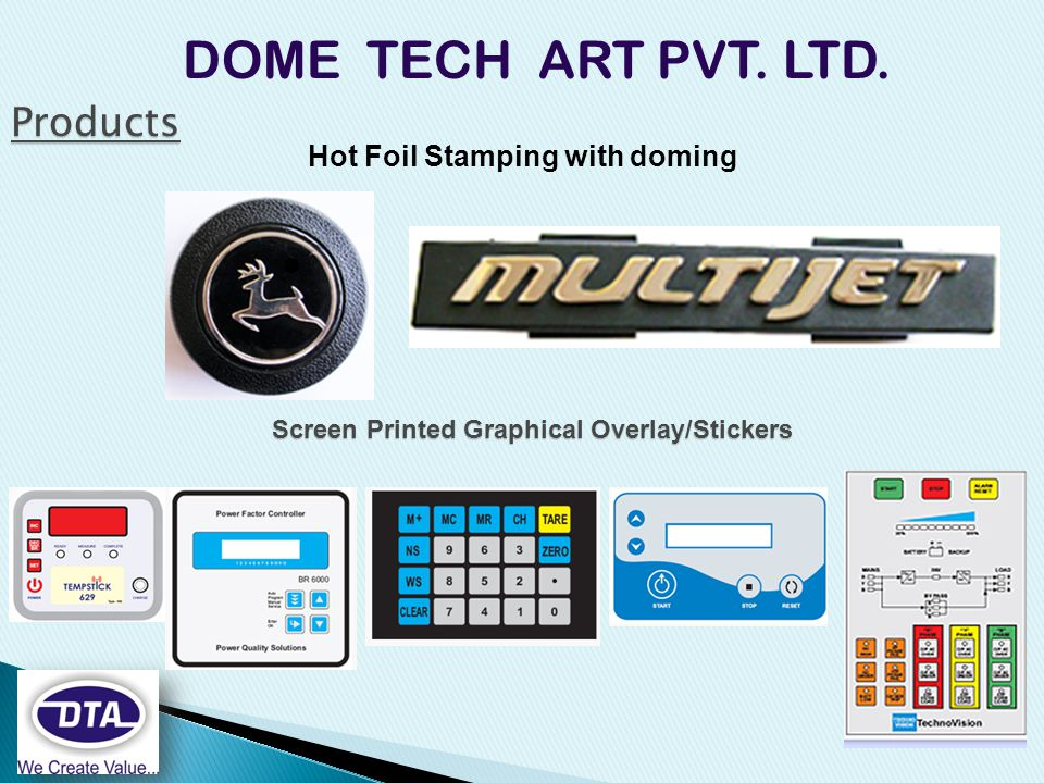 Hot Foil Stamping with doming DOME TECH ART PVT. LTD.
