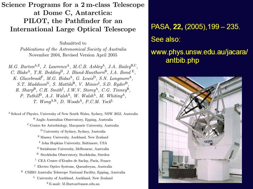 PASA, 22, (2005),199 – 235. See also: www.phys.unsw.edu.au/jacara/ antbib.php