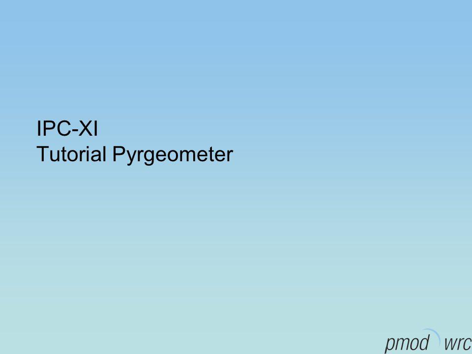 IPC-XI Tutorial Pyrgeometer
