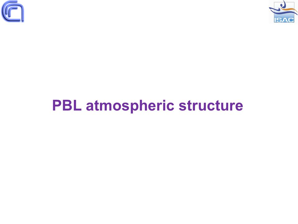 PBL atmospheric structure