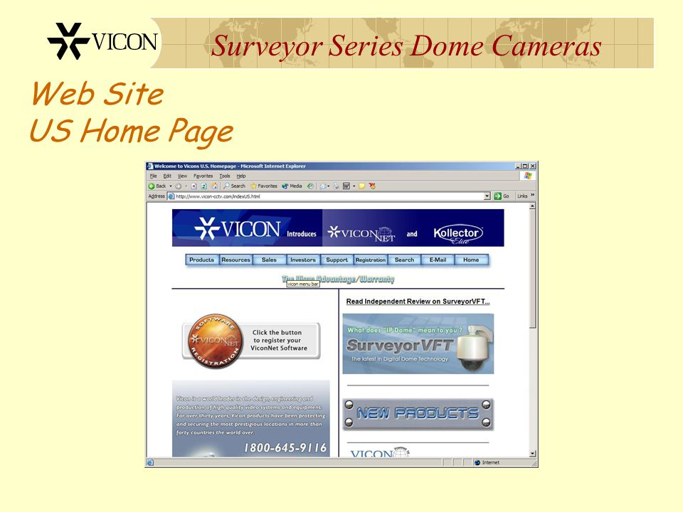 Surveyor Series Dome Cameras Web Site US Home Page