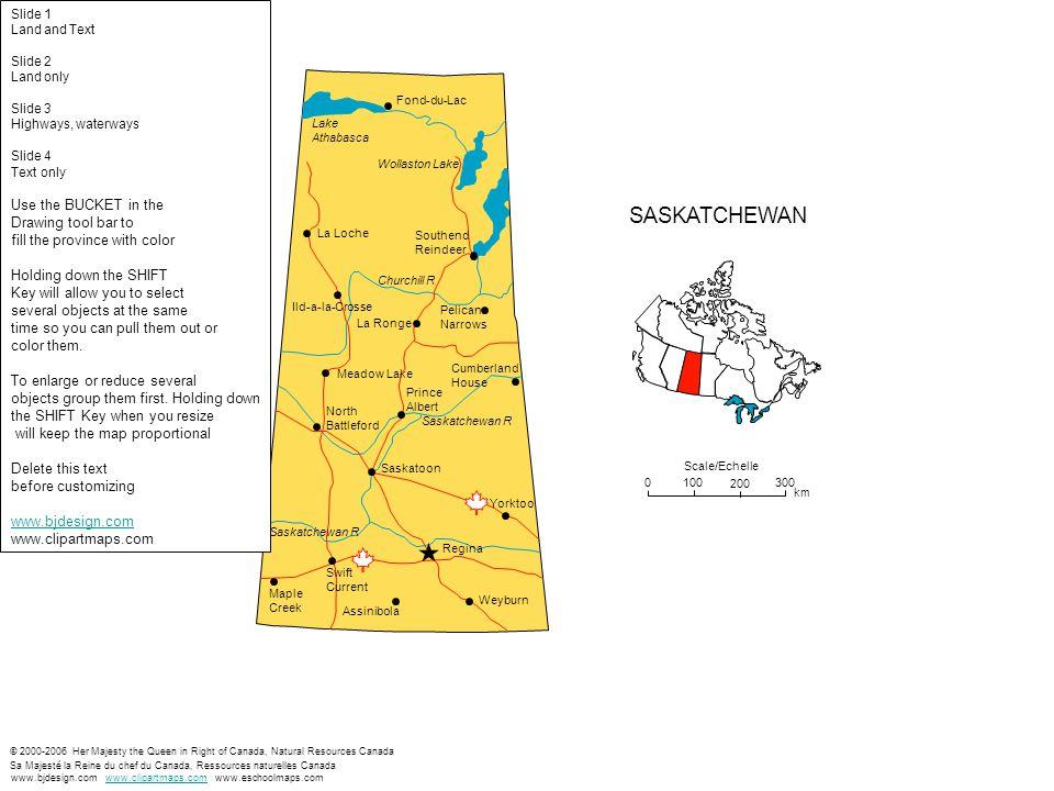 Scale/Echelle 0100 200 300 km © 2000-2006 Her Majesty the Queen in Right of Canada, Natural Resources Canada Sa Majesté la Reine du chef du Canada, Re