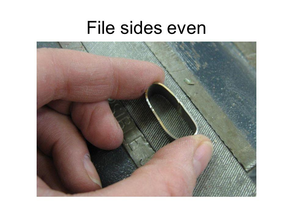File sides even