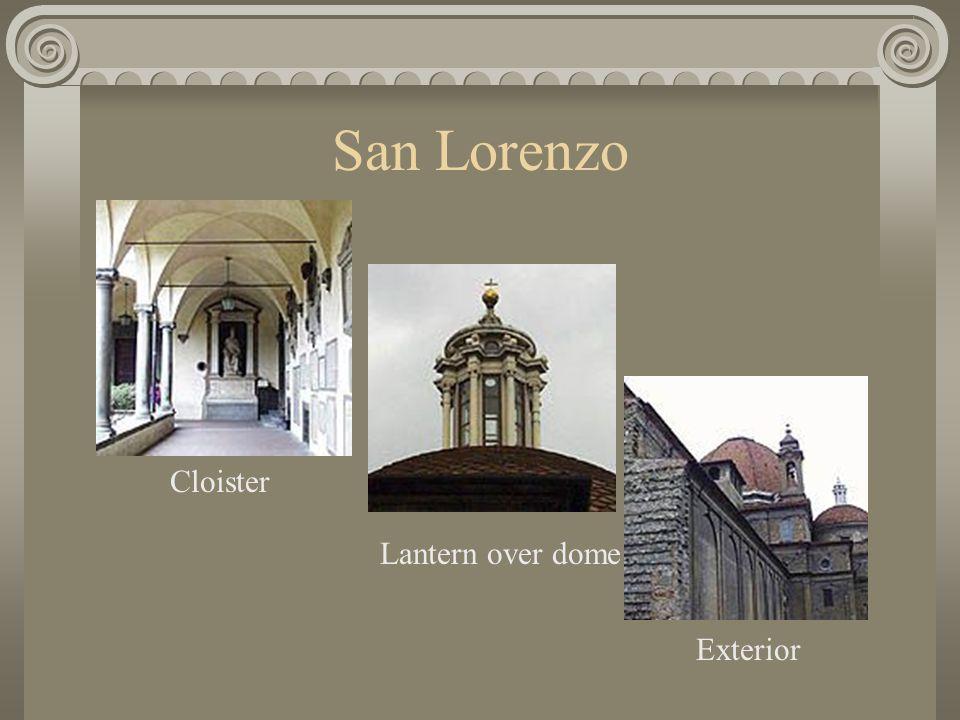 San Lorenzo Cloister Lantern over dome Exterior