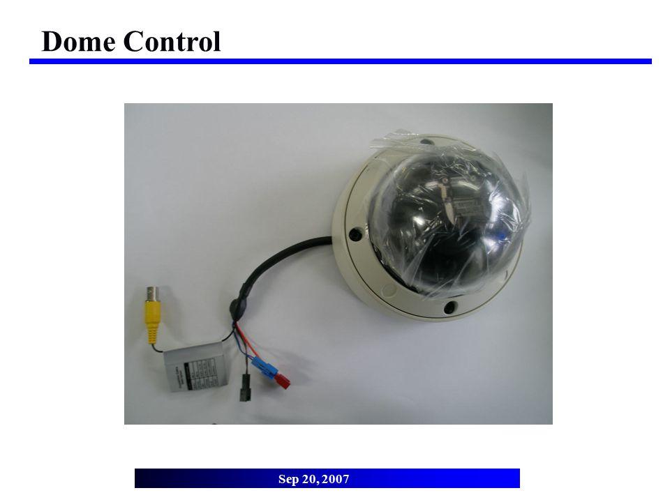 Dome Control Sep 20, 2007