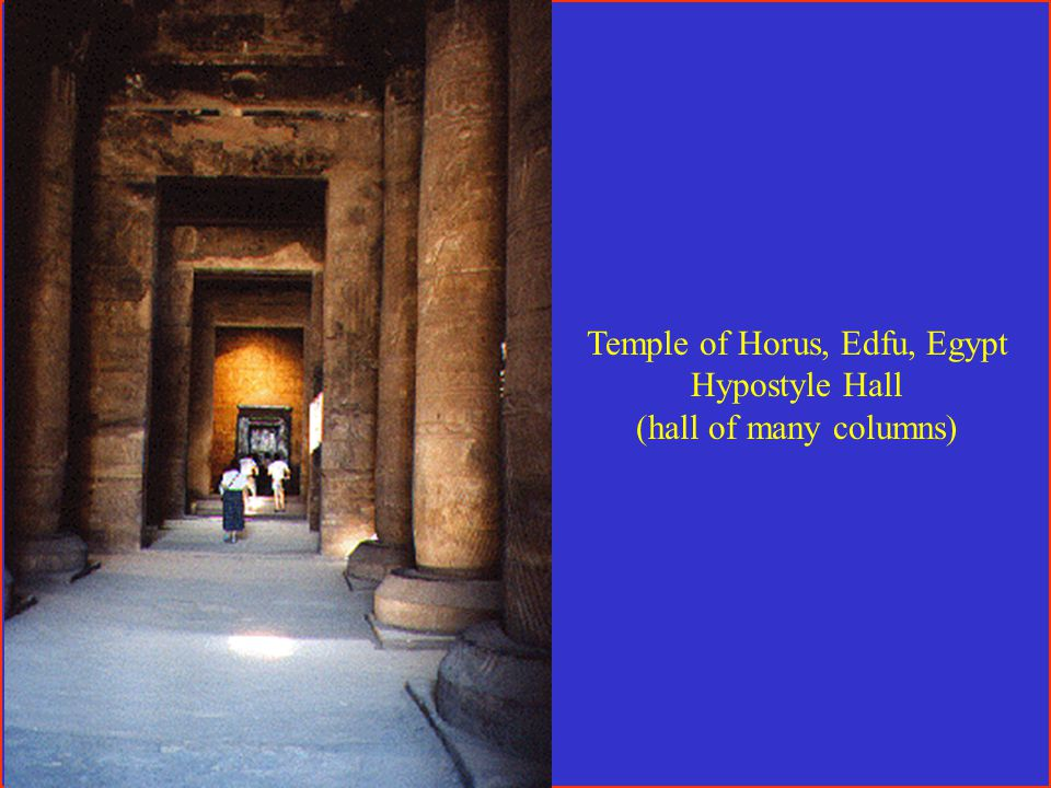 Temple of Horus, Edfu, Egypt Hypostyle Hall (hall of many columns)