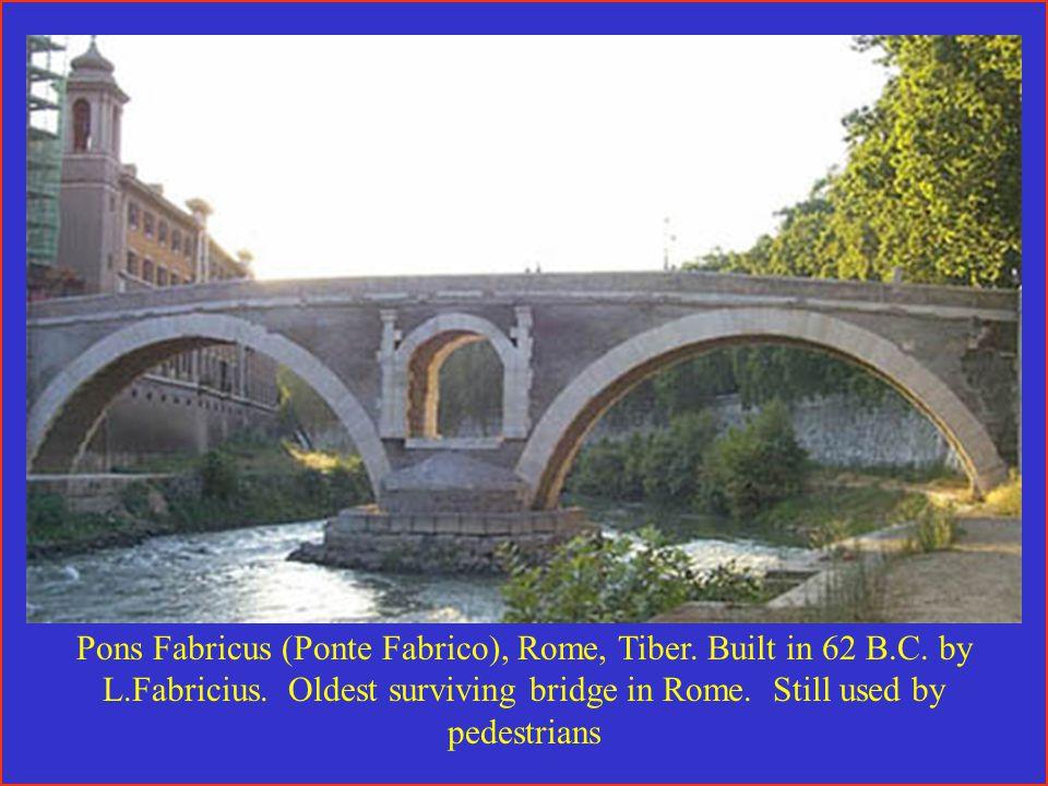 Pons Fabricus (Ponte Fabrico), Rome, Tiber. Built in 62 B.C.