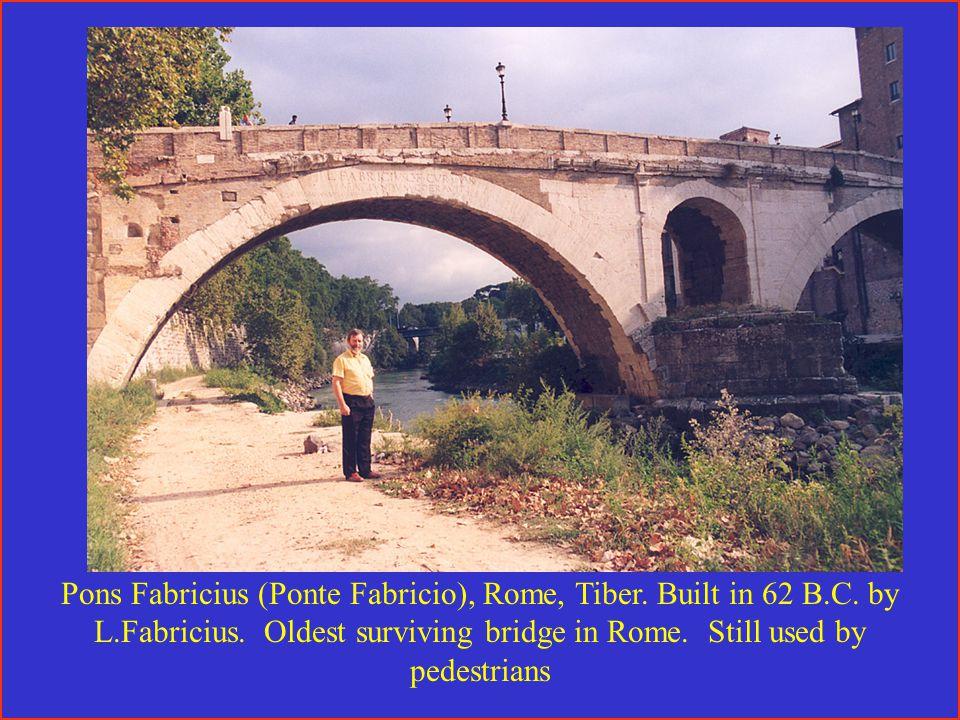 Pons Fabricius (Ponte Fabricio), Rome, Tiber. Built in 62 B.C.