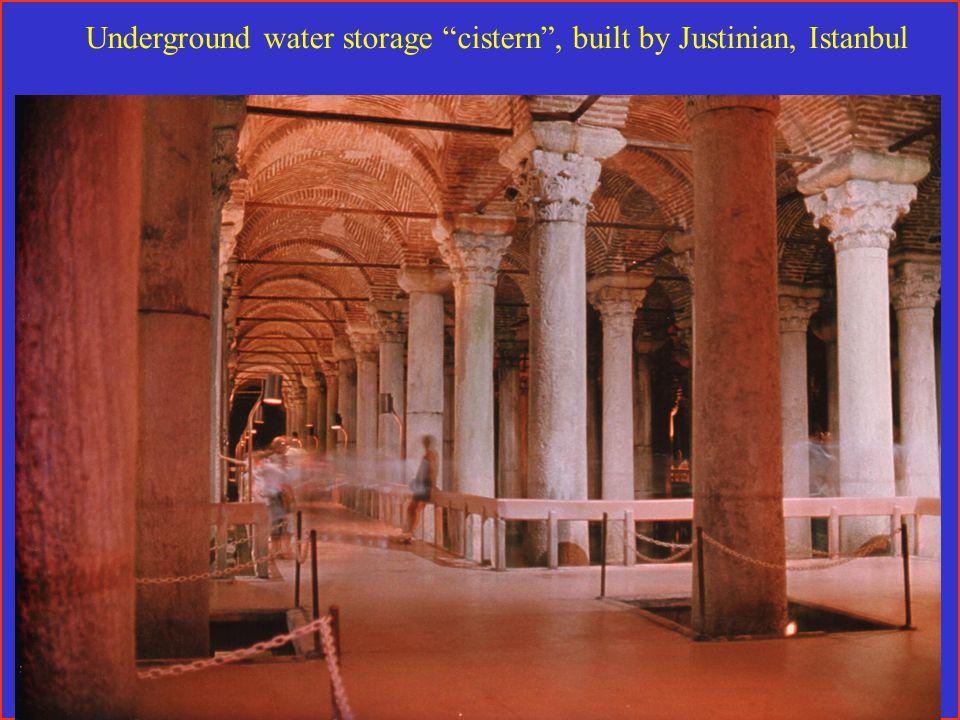 Underground water storage cistern , built by Justinian, Istanbul