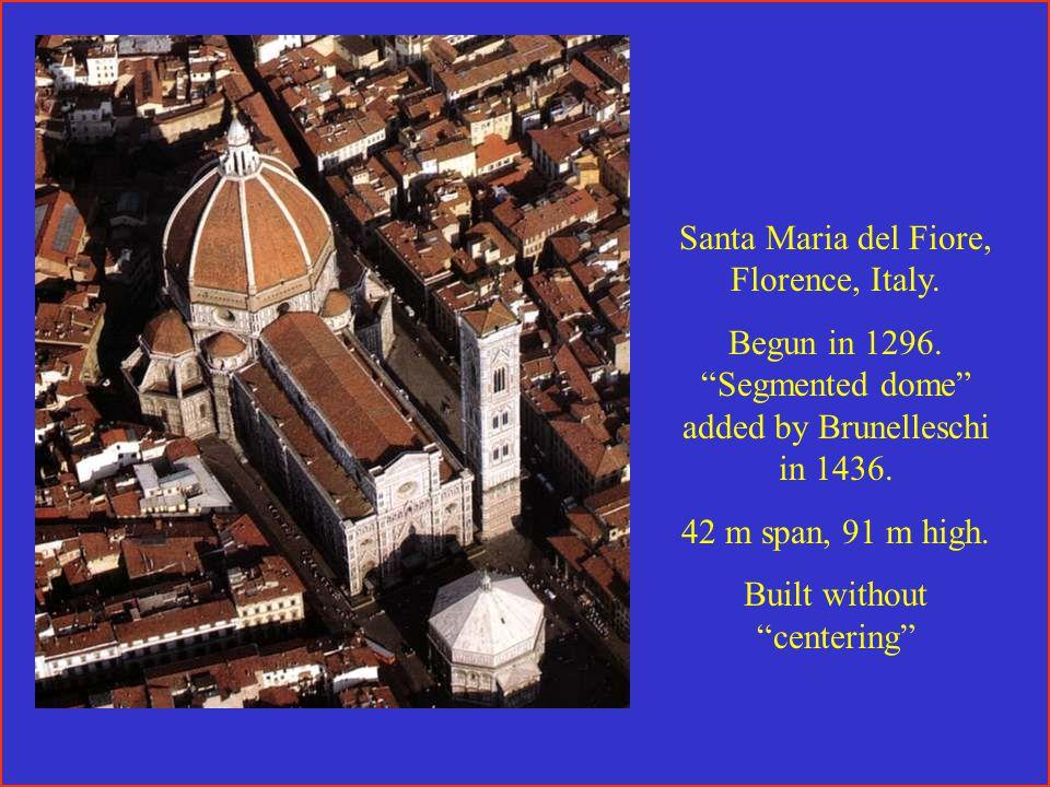 Santa Maria del Fiore, Florence, Italy. Begun in 1296.