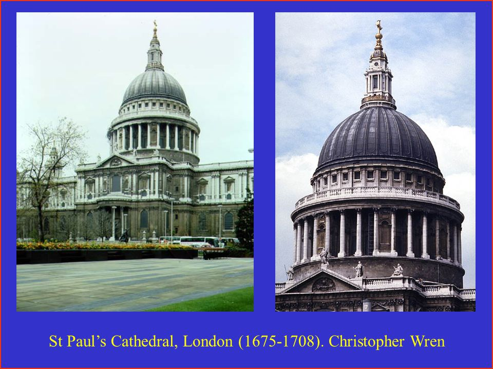 St Paul's Cathedral, London (1675-1708). Christopher Wren