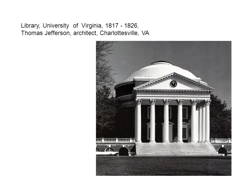 Library, University of Virginia, 1817 - 1826, Thomas Jefferson, architect, Charlottesville, VA