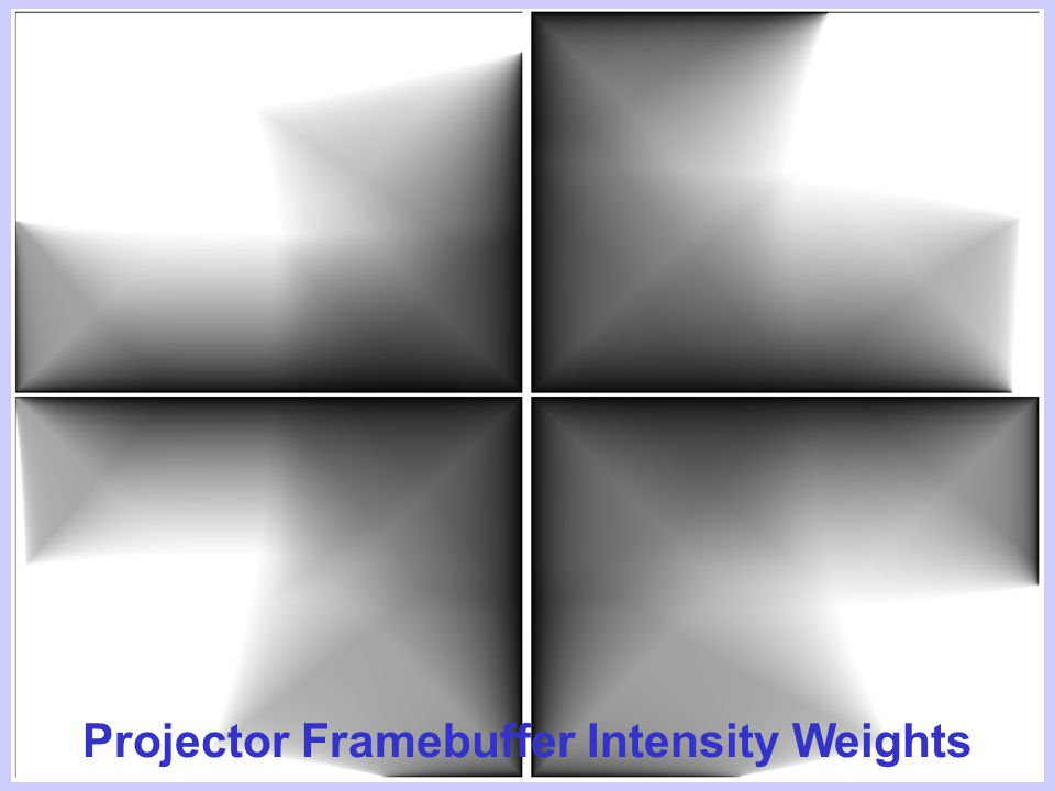 Mitsubishi Electric Research Laboratories Raskar May 03 Projector Framebuffer Intensity Weights
