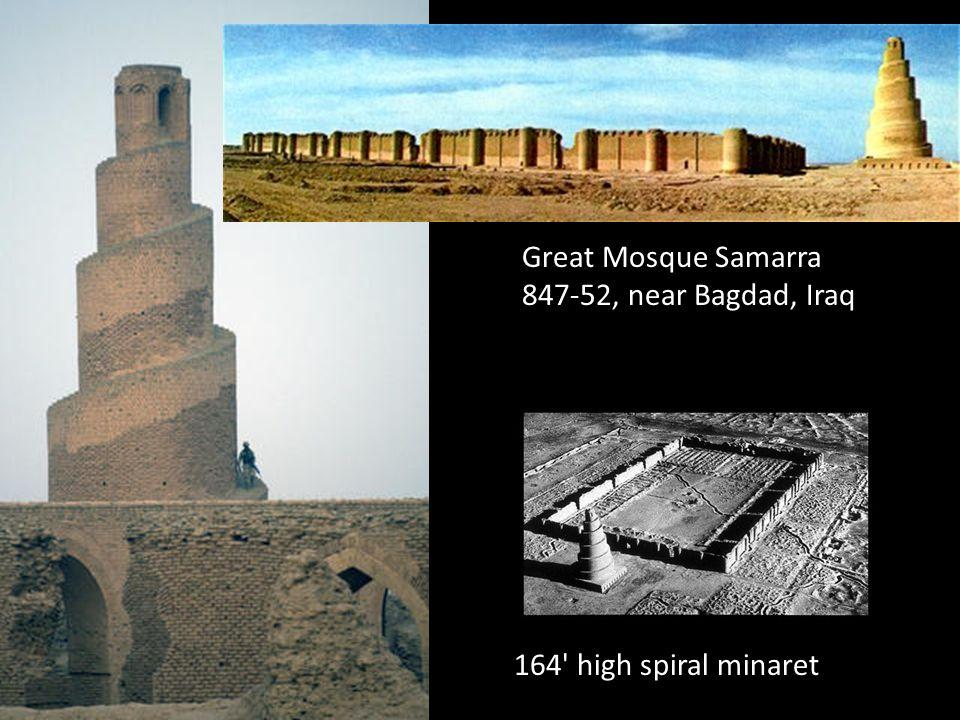 Great Mosque Samarra 847-52, near Bagdad, Iraq 164' high spiral minaret