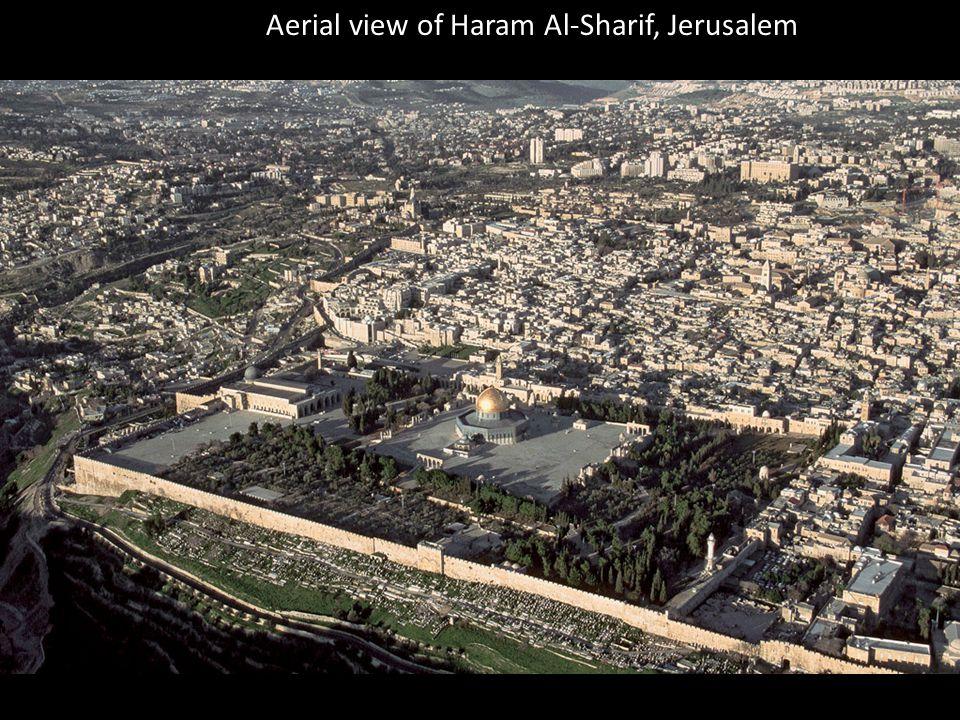 Aerial view of Haram Al-Sharif, Jerusalem