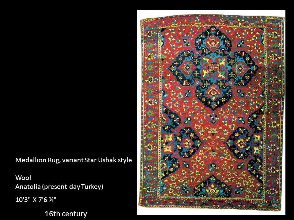 16th century Medallion Rug, variant Star Ushak style Wool Anatolia (present-day Turkey) 10'3