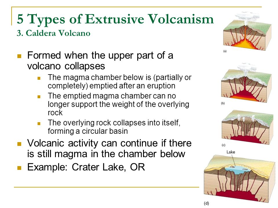 5 Types of Extrusive Volcanism 3.