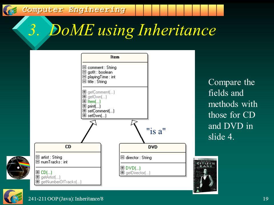 241-211 OOP (Java): Inheritance/8 19 3.