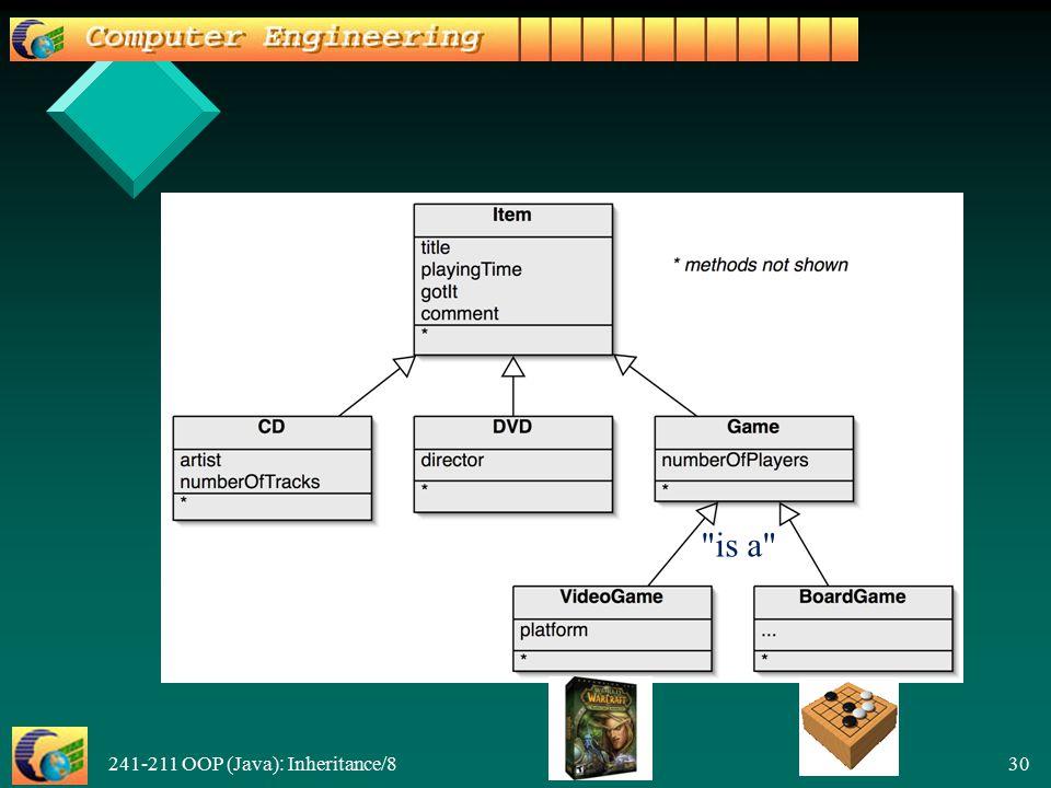 241-211 OOP (Java): Inheritance/8 30 is a
