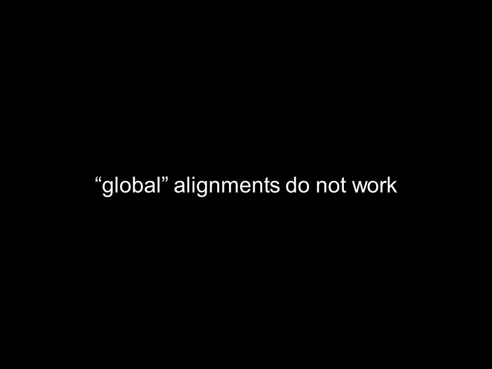 global alignments do not work