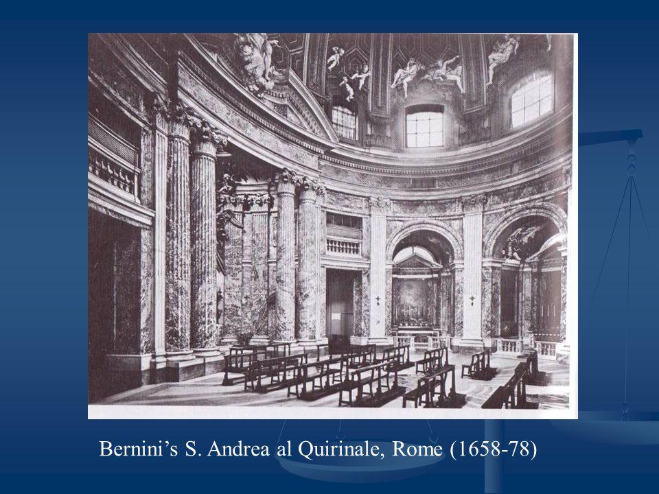 Bernini's S. Andrea al Quirinale, Rome (1658-78)