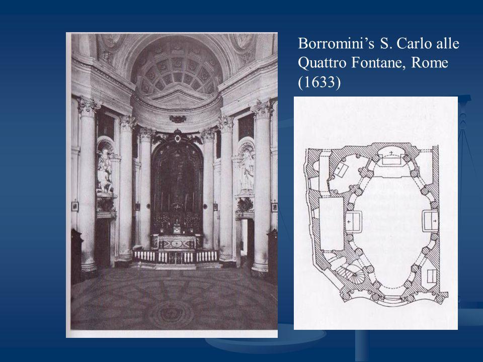 Borromini's S. Carlo alle Quattro Fontane, Rome (1633)