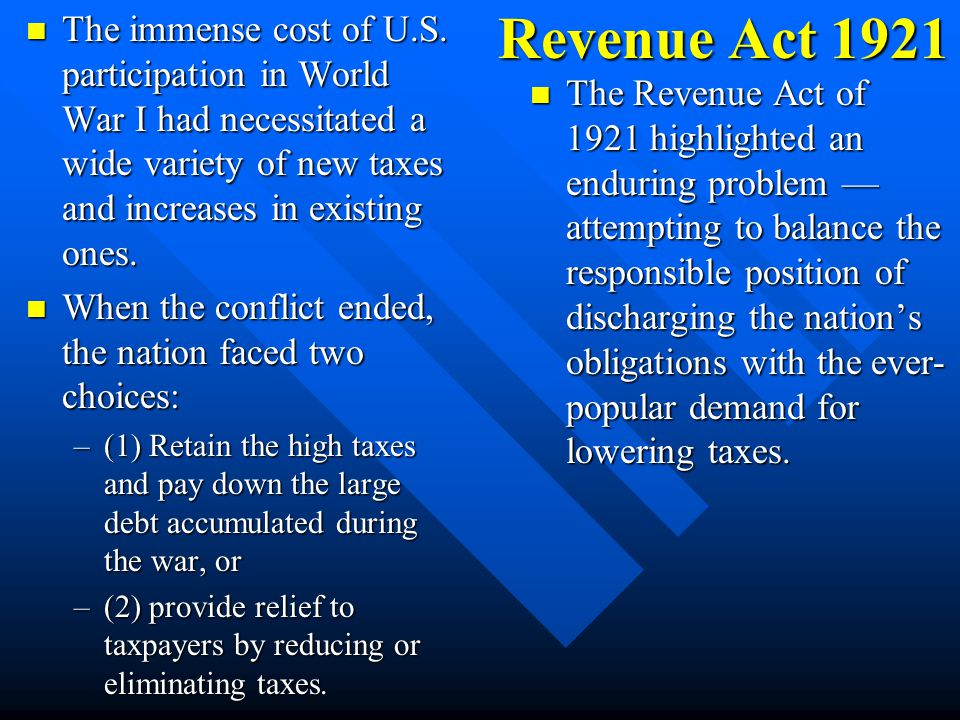 Budget & Accounting Act 1921 The measure gained approval in June, retaining the provision opposed by Wilson, and provided: The measure gained approval