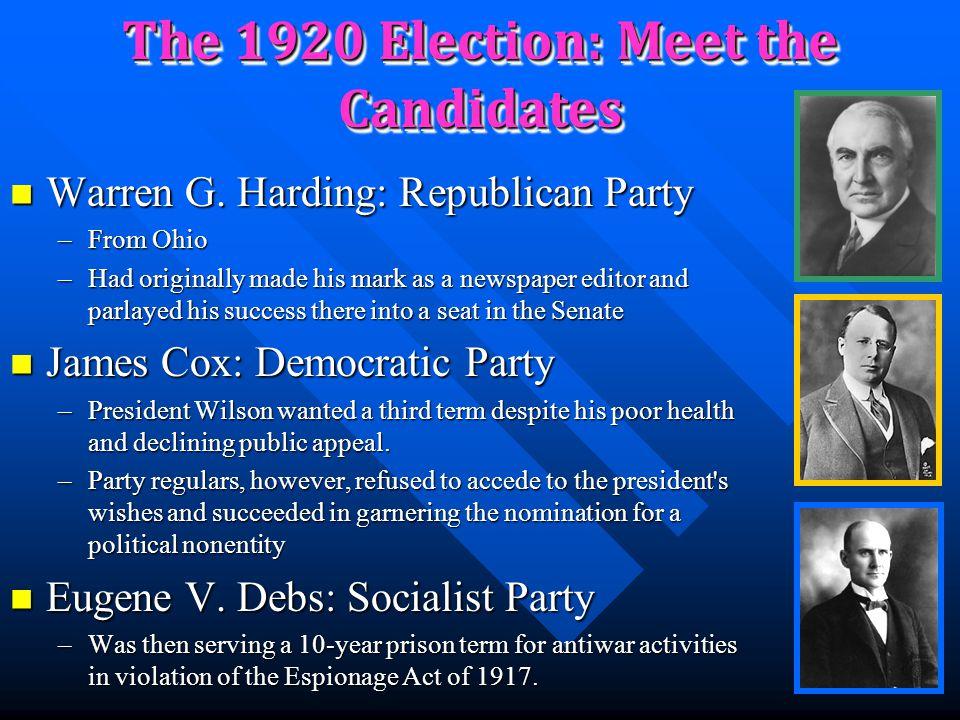 "Republican Power President Warren G. Harding President Warren G. Harding Elected 1920 Elected 1920 Legacy of Scandals Legacy of Scandals –""Teapot Dome"